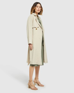 Oxford Stella Trench Coat - Coats & Jackets (Brown)