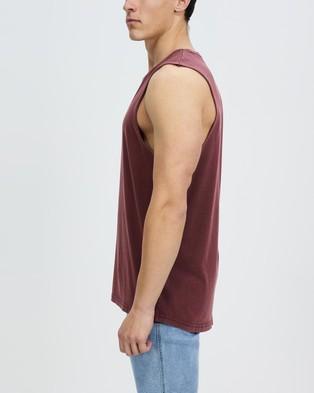 Staple Superior Organic Staple Organic Vintage Muscle - T-Shirts & Singlets (Wine)