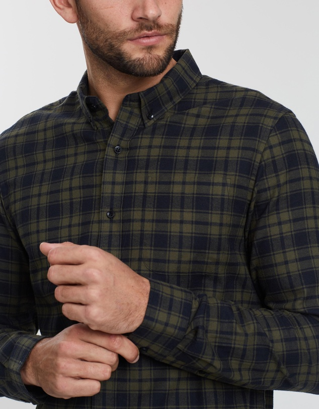 Staple Superior - Arizona Check Flannel Shirt