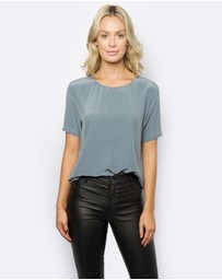 The Fable - Blue Steel Silk T-shirt