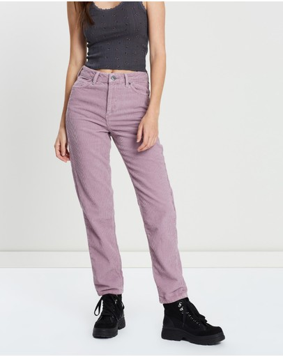 Bdg By Urban Outfitters Corduroy Mom Jeans Lilac