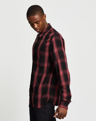 Neuw Waits LS Shirt - Casual shirts (Red Brick Check)