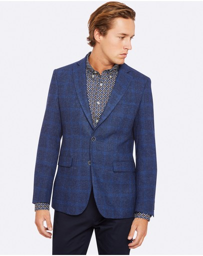 Oxford - Max Wool Blend Checked Blazer