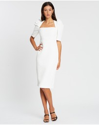 BY JOHNNY. - Ocean Jacquard Structured Midi Dress