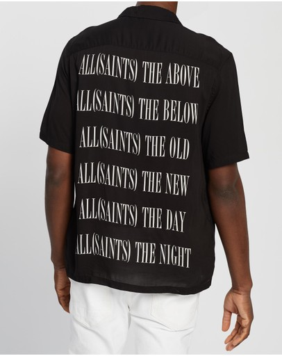 Allsaints Brackets Ss Shirt Jet Black