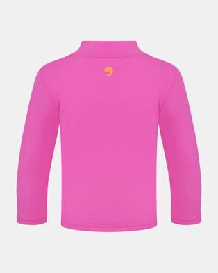 Escargot Zip Up Long Sleeve Suntop - Swimwear (Pink)