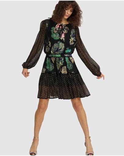 Cynthia Rowley - Inverness Mixed Metallic Fish Dress