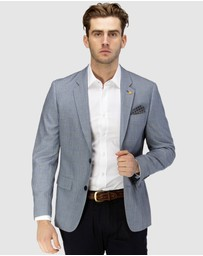 Brooksfield - Textured Window Pane Check Blazer