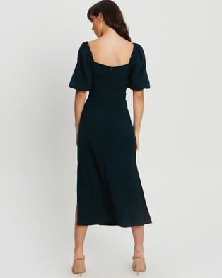 Tussah Jordin Midi Dress - Dresses (Emerald)