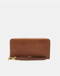 Fossil - Logan Brown Zip Clutch