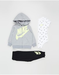 Nike - 3-Piece Full-Zip Pant Set - Babies