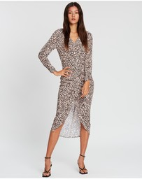 Wish The Label - Golden Safari Midi Dress