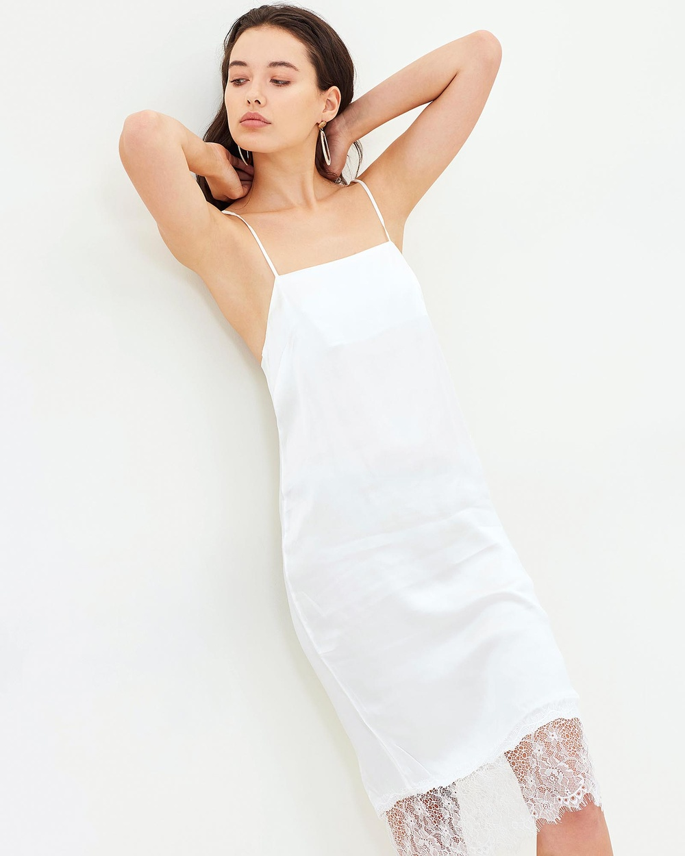 Isabelle Quinn La Verne Slip Dress Dresses White La Verne Slip Dress