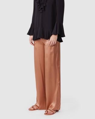 TORANNCE Silk Palazzo Pants - Pants (Copper)