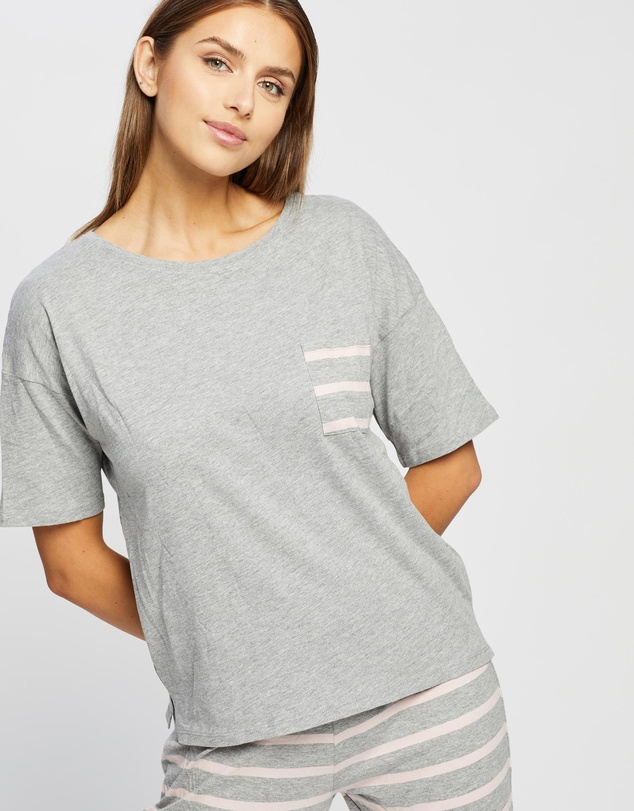 Women Cotton Stripe Pyjama Set
