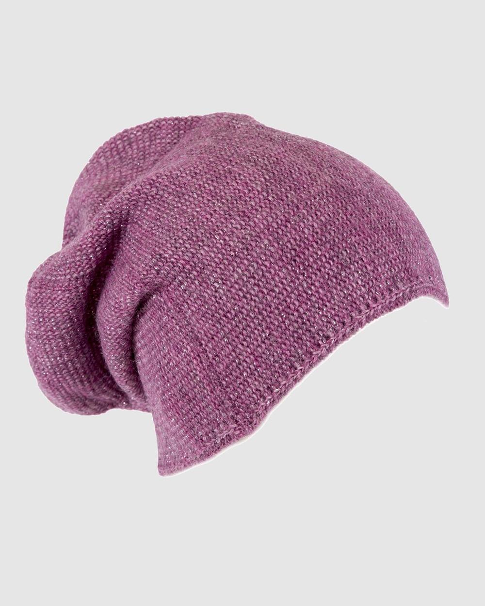 Max Alexander European Made Fashion Wool Beanie Headwear Purple