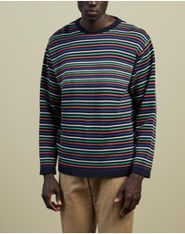 Garbstore - The English Difference Micro Stripe Crew