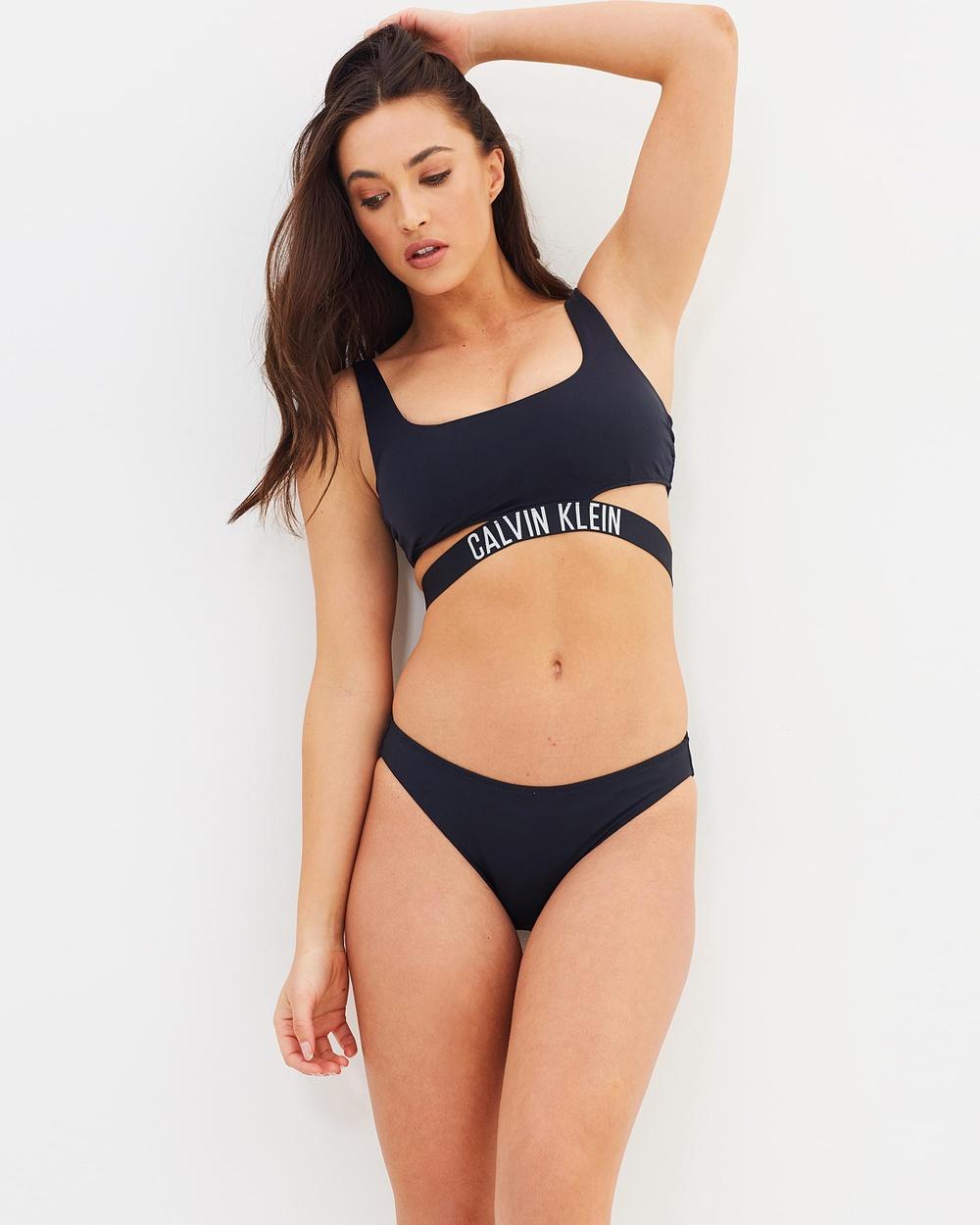 CK Swim Classic Clean Bikini Bottoms Bikini Bottoms Black Classic Clean Bikini Bottoms