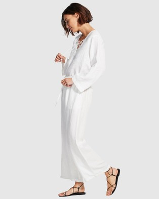 Seafolly Harbour Linen Top - Swimwear (White)