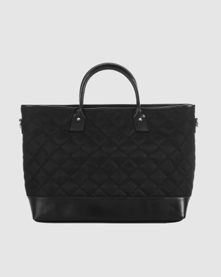 JETT BLACK The Chicago Quilted Laptop Work Bag - Tech Accessories (Black)