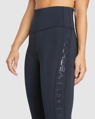 Rockwear Topia Colour Blocked Logo Ankle Grazer Tights - Full Tights (BLACK)