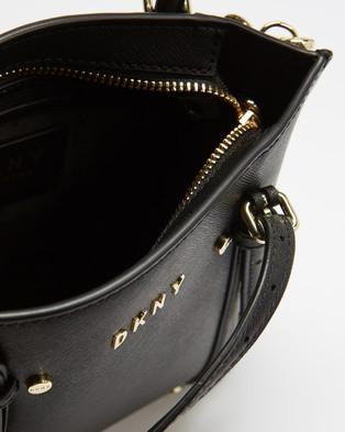 DKNY Bo Cross Body Saffiano Bag - Handbags (Black & Gold)