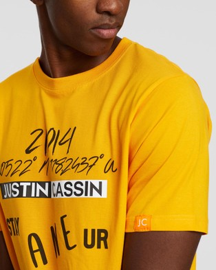 Justin Cassin Stay In Your Lane T Shirt - T-Shirts & Singlets (Yellow)
