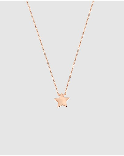 Secret Sisterhood Sister Star Necklace Rose Gold