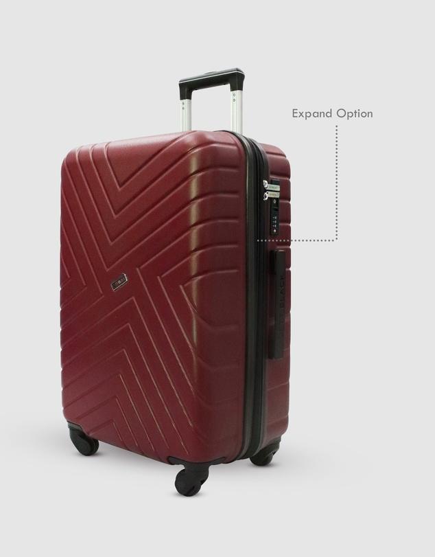 Women Merlot Maze Medium Suitcase