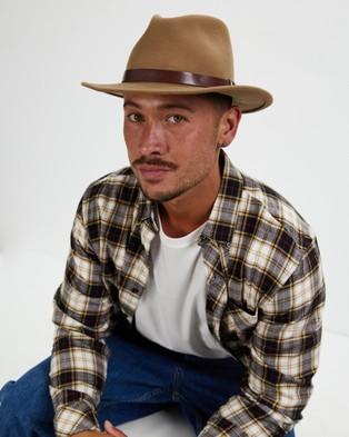 Brixton Messer Fedora - Hats (Tobacco)