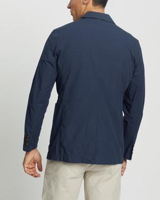 AERE Relaxed Organic Cotton Poplin Blazer - Blazers (Navy)