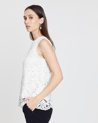 Lindsay Nicholas New York Lace Top - Tops (White)