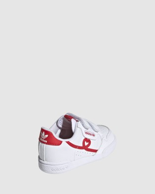 adidas Originals Continental Heart Strap Infant - Sneakers (White/Red)