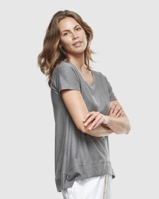 Cloth & Co. Organic Cotton Slub T Shirt - Short Sleeve T-Shirts (Charcoal)