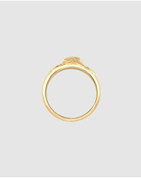 Elli Jewelry - Ring Rose Symbol Vintage Elegant 925 Sterling Silver Gold Plated