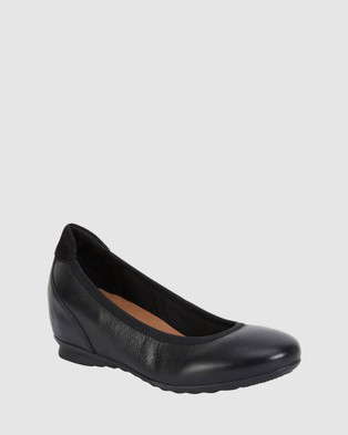 Wide Steps Norah - Wedges (BLACK)
