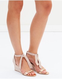 Shoes of Prey - ICONIC EXCLUSIVE - Mariposa Leather Wedges