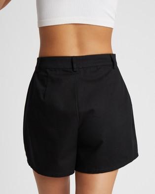 Calli Shani Shorts - High-Waisted (Black)