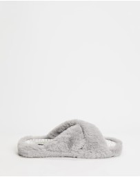 Ted Baker - Cameo Faux-Fur Strap Slippers