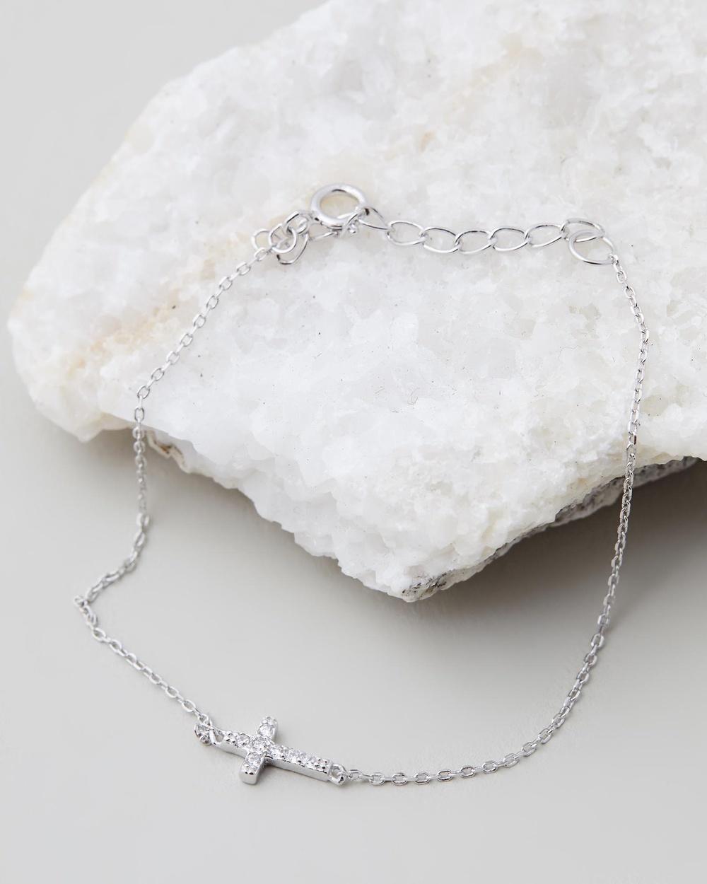 SAINT VALENTINE Fine Cross Bracelet Jewellery Silver