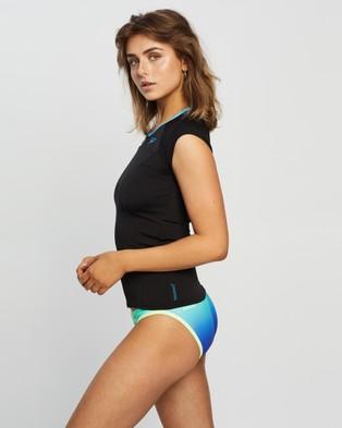 Speedo Cap Sleeve Sun Top - Swimwear (Black & Laguna)