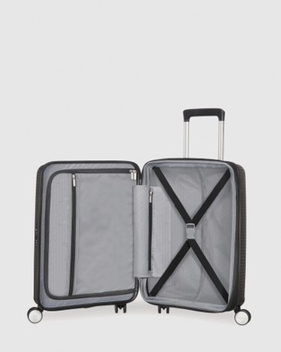 Australia American Tourister Curio Spinner 55 20 T Front Open - Travel and Luggage (Black)