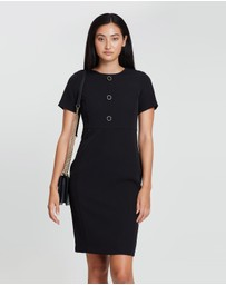 Dorothy Perkins - Buttoned Crepe Dress