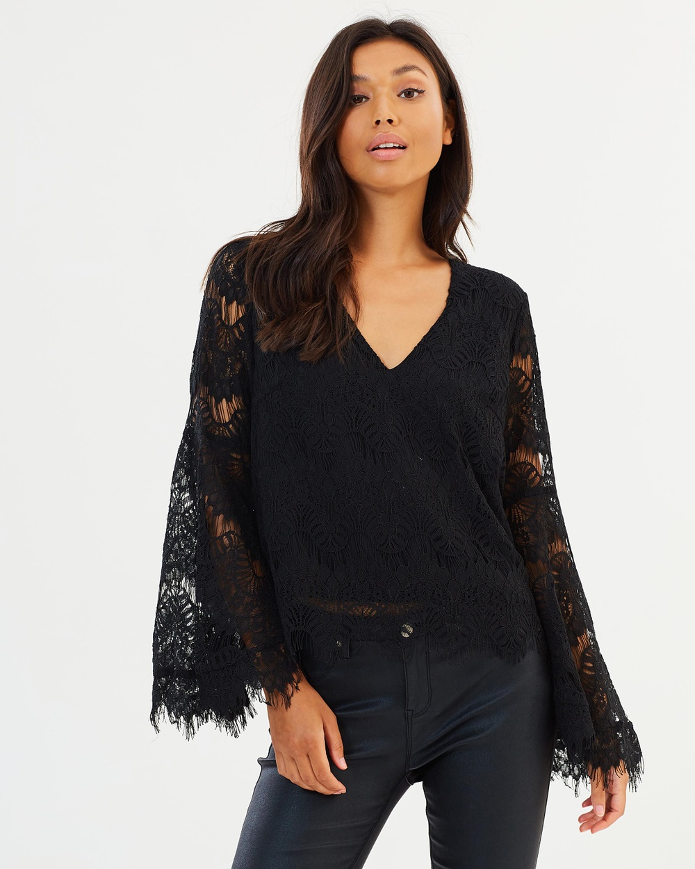 MINKPINK Tainted Love Lace Top Tops Black Tainted Love Lace Top