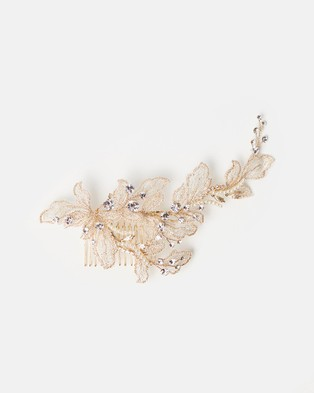 Ivory Knot Coco Hair Comb - Fascinators (Gold)