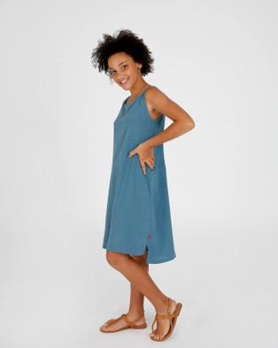 Hendrik Clothing Company The Slip Dress - Dresses (Blue)