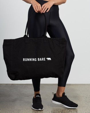 Running Bare - Totes Amazing Bear Tote Bags (Black)