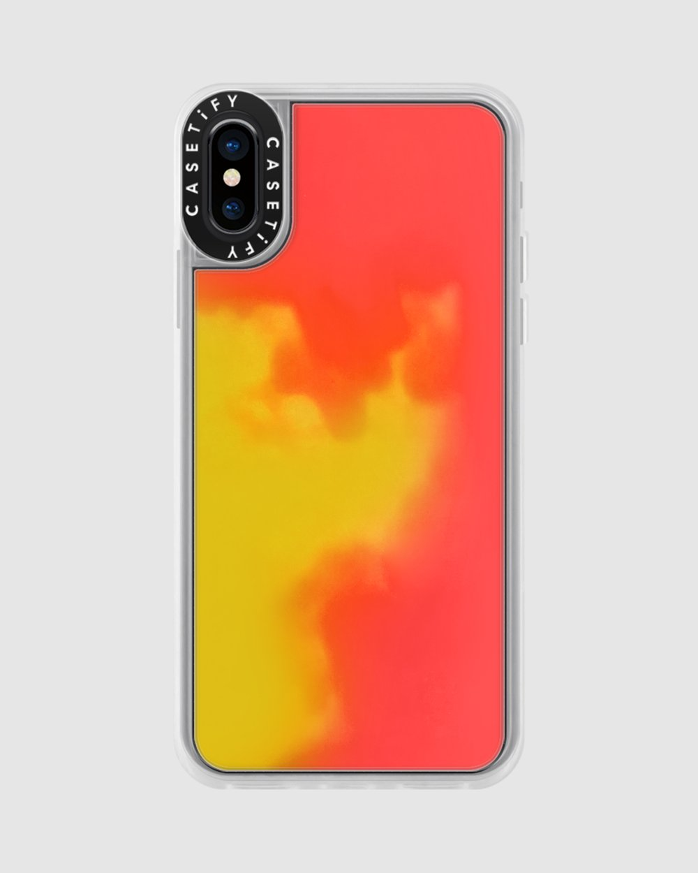 new concept 0776c ae916 CASETiFY Neon Sand Liquid Case for iPhone XS/ iPhone X - Flame (Yellow /  Orange)