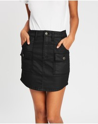 DRICOPER DENIM - Coated Utility Skirt