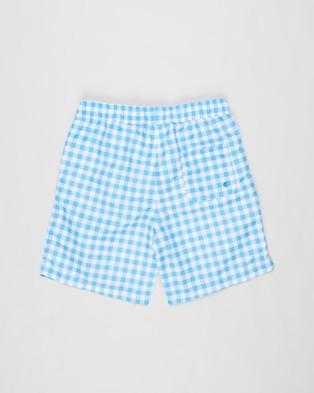 Free by Cotton On Bailey Boardshorts   Teens - Swimwear (Gingham Check & Blue Bird)